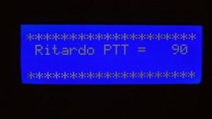 Variazione del ritardo del comando PTT