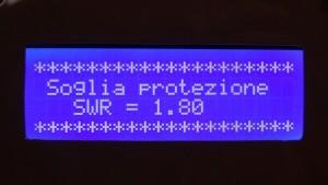 Variazione della soglia di intervento della protezione da SWR troppo elevato